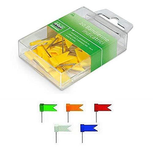 269 LEBEZ scatola 20 spilli a bandierina verde art