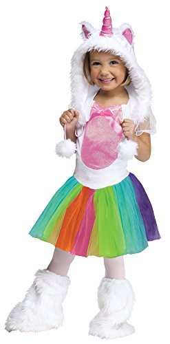 Fun World Vivid Unicorn Toddler Costume, Large 3T-4T, Multicolor