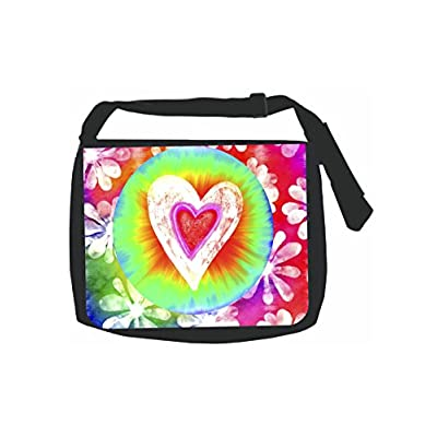 Colorful Tie Dye Heart Multifunctional Bundle Backpack Shoulder Bag For Men And Women