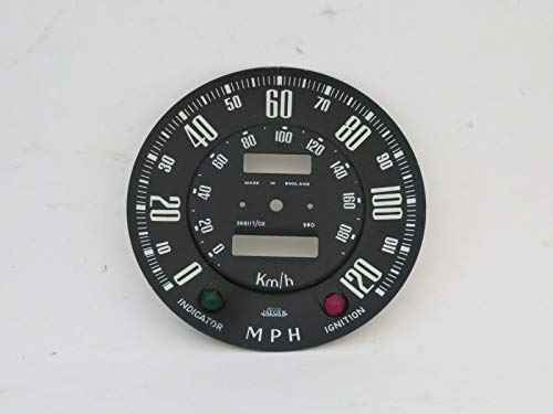 (EPC Speedometer Dial Face Plate 120MPH Jaeger Fits Sunbeam Alpine Series 1 SN6117/02)