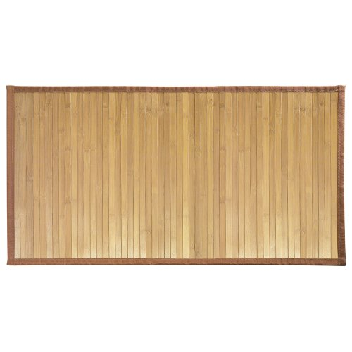 InterDesign Formbu Bamboo Floor Mat Non-Skid, Water-Repellent Runner Rug for Bathroom, Kitchen, Entryway, Hallway, Office, Mudroom, Vanity, 34