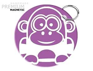 JCM impresionante Funny Cartoon gorila llavero magnético ...