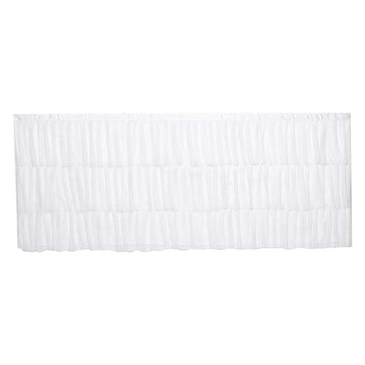 Falda de mesa blanca de costura de 3 capas, cubierta de mantel de ...