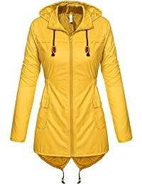 Amazon.com: Yellow - Trench, Rain & Anoraks / Coats, Jackets ...