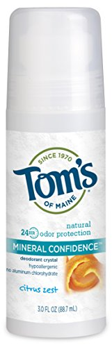 Tom's of Maine - Natural Mineral Confidence Deodorant Crystal Roll-On Citrus (Crystal Maine)