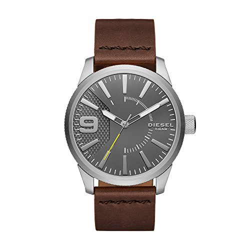 Diesel Men's DZ1802 Rasp Stainless Steel Brown Leather Watch