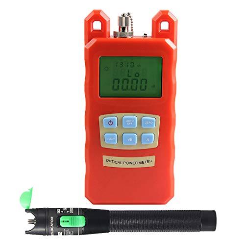 Prettyia Pack Portable Optical Fiber Power Meter Tester Measure -70dBm~+10dBm + 20mW 15KM Visual Fault Locator Fiber Tester Detector Meter Pen by Prettyia (Image #5)
