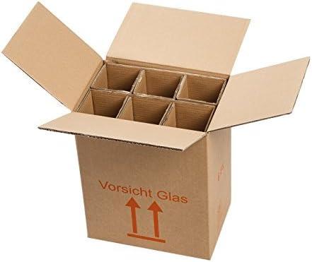 6 botellas Cajas de Cartón montado montado – La Autorización – Envío de vino para 0,75L Burdeos/Burdeos/champán/Schlegel (1 L): Amazon.es: Oficina y papelería