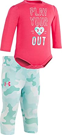 Under Armour Baby Girls Play Your Heart Out Bodysuit Set