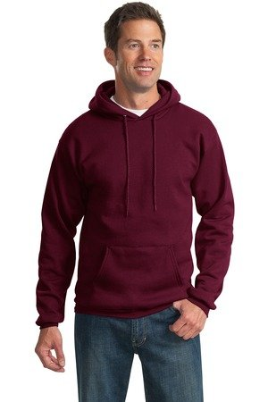 Port Company Classic Pullover Hooded Sweatshirt. - Large - Maroon
