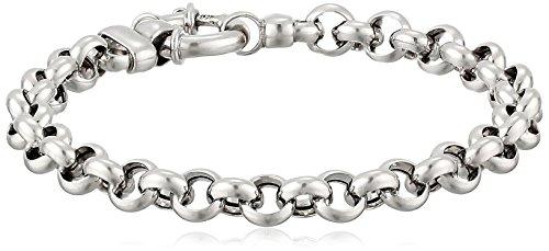 (Italian Sterling Silver Light Flat Rolo Bracelet, 7.25