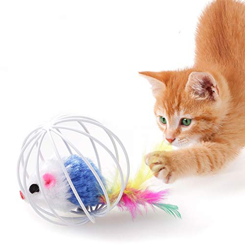 Best Quality Randomly Funny pet Kitten cat Playing Mouse Rat mice Ball cage Toys Home Gatos jouet Chat juguetes para Gatos katten speelgoed