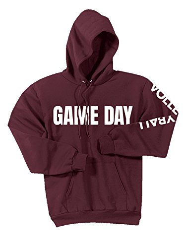 Game Day Hoodie - Game Day Volleyball Hoodie, Cardinal, X-Large