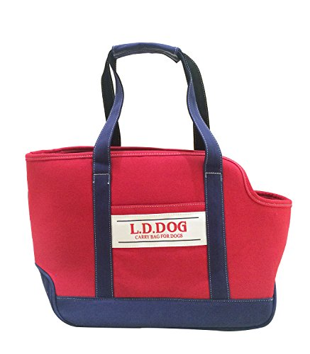 Wildlforlife Fashion Canvas Pet Tote Carrier for Cat and Small Dog (Red)