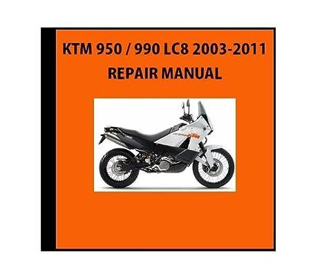 amazon com new ktm oem repair manual disk dvd cd ktm 950 990 lc8 rh amazon com Bazzaz KTM 990 Adventure Bazzaz KTM 990 Adventure