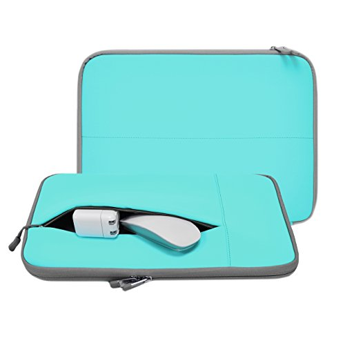 Unik Case - Neoprene Turquoise Zipper Laptop Sleeve Bag Cover for All 13 13-Inch Laptop Notebook / Macbook Pro / Macbook Air / Ultrabook / Chromebook - Turquoise