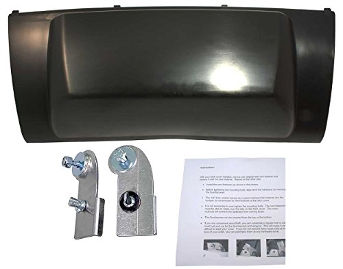 APDTY 133897 Rear Bumper Trailer Hitch Cover & Heavy Duty Clamps Fits 2007-2014 Cadillac Escalade Chevrolet Suburban Tahoe GMC Yukon (Upgraded Steel Hold Down Clamps; Replaces (Chevrolet Tahoe Bumper Cover)