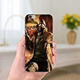 Brown Fallout iPhone 6 Case, Video Game iPhone 6 Cover Post-Apocalyptic Computer Role-Playing Game Phone Cover Dirt-Resistant iPhone Casing, TPU Silicon