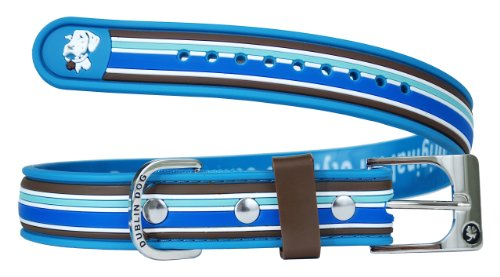 Dublin Dog Waterproof Dog Collar, Small 9 inches - 14 inches, Tahitian