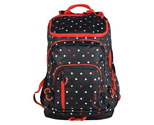 "Embark 19"" Jartop Elite Backpack-Black with red/White Polka dots"