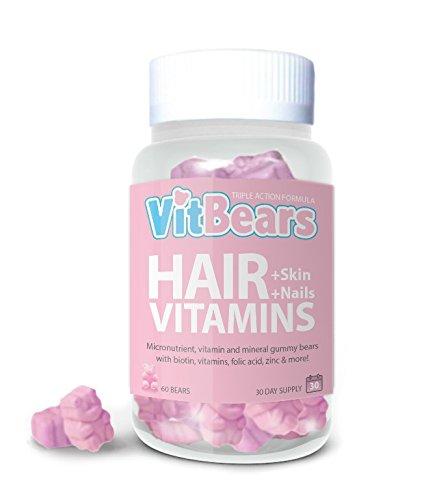 VITBEARS HAIR, SKIN AND NAIL BIOTIN GUMMY VEGETARIAN HAIR BEAR VITAMINS, 60...
