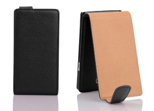 Cadorabo - Funda Flip Style para LG NEXUS 5 de Cuero Sintético - Etui Case Cover Carcasa Caja Protección en NEGRO-ÓXIDO NEGRO-ÓXIDO