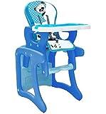 Trona para bebé convertible en mesa y silla, modelo panda azul. Trona o silla para niños.Mas set de regalo