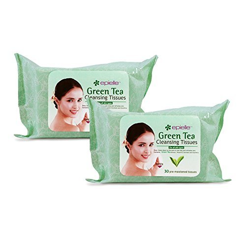 - Epielle 30 Pre-moistened Green Tea Cleansing Tissues (2 Pack)
