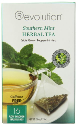 Revolution Tea Herbal Tea, Southern Mint, 16 Count (Pack of (Revolution Mint)