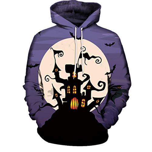 Pullover Soldes Top Unisexe Vêtements Poches Casual Avec Homme À Hiver Sweatshirt Halloween Blouse Imprimé Hoodies Multicolore Capuche J Femme 3d overdose FAWAU7