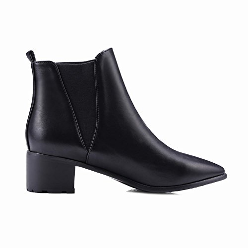 Sexy High Black Mee Pointed heel Ankle toe Womens Shoes high Boots ECwpqR