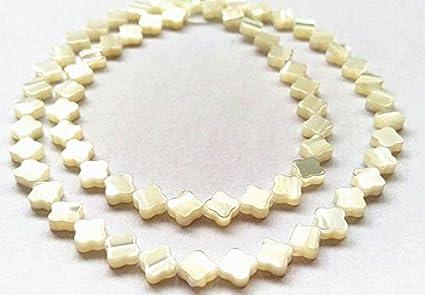8mm White Glass Pearls Choker Six Strand