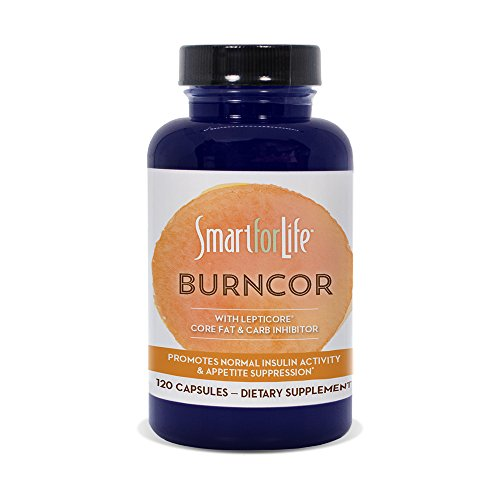 Smart for Life BurnCor with Lepticore 120 Capsules Weight Loss Supplement Help Burn Fat and Improve Leptin Function