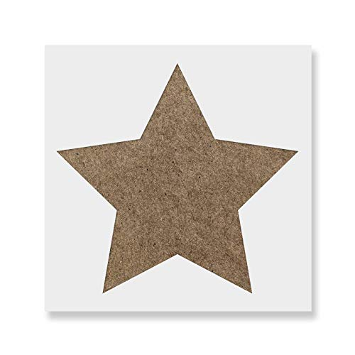 Rounded Star Stencil Template for Walls and Crafts - Reusable Stencils for Painting in Small & Large - Star Rounded