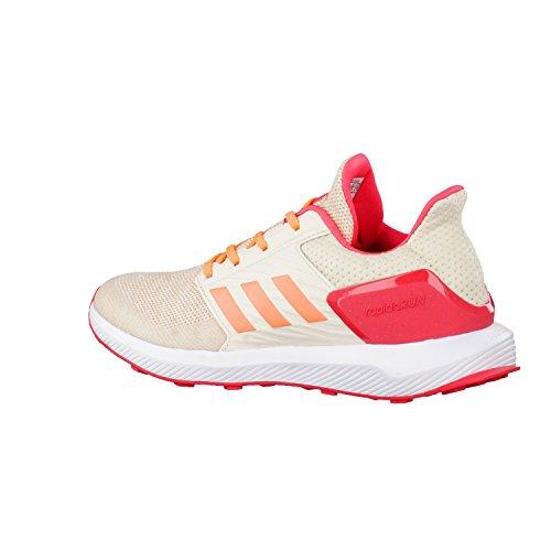 Adidas Rapidarun K, Chaussures de Tennis Mixte Enfant, Blanc Cassé (Ftwbla/Narsen/Lino), 38 EU