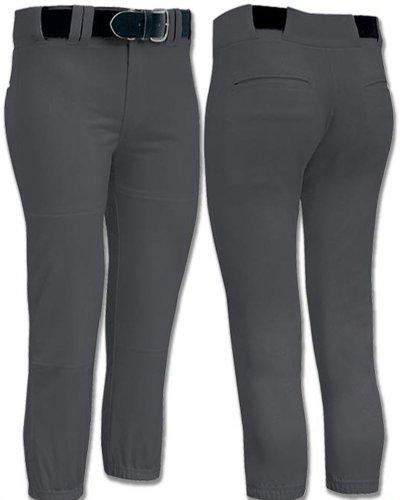 Joe's USA Womens Low Rise Fastpitch Softball Pants, Large-Graphite