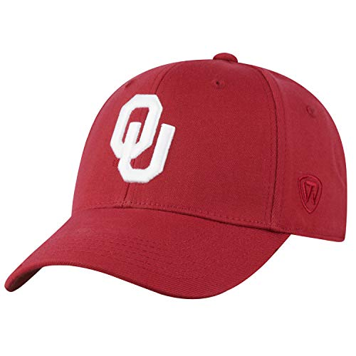 (Top of the World Oklahoma Sooners Men's Memory Fit Hat Icon, Cardinal, One Fit)