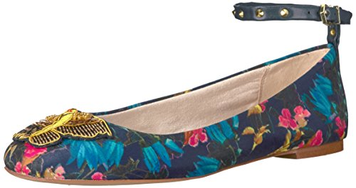 Sam Edelman Women's Ferrera 2 Ballet Flat, Navy Multi Bouquet Print, 7 Medium US (Bouquet Flat)