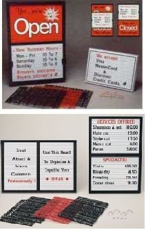 Closed Message Board - Counter Top Open/Closed Message Board Signs Package