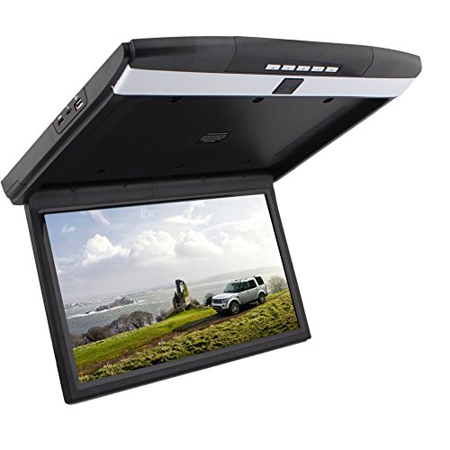 15''HD 1080P Video Car Roof Mount Display Flip Down Monitor for cars...