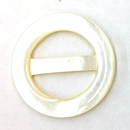 """Mother of Pearl Belt Buckles for Women 1-1/2"""" Inch Round Buckle -"""