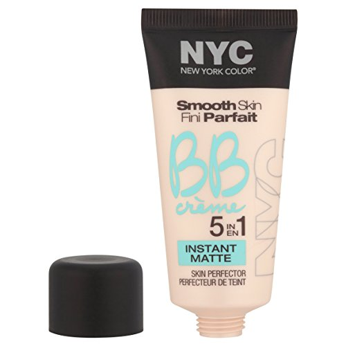 41oJfKw8ZlL N.Y.C. New York Color BB Creme Foundation Matte, Light, 1 Fluid Ounce