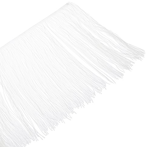 Expo International 20-Yard Chainette Fringe Trim, 12-Inch, White by Expo International Inc.