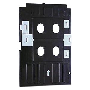 Kataria PVC ID Card Tray for Epson L-800,L-805,L810,R-260,R-280,R290,T-50,T-60,P-50 Inkjet Printer and CD (Black)
