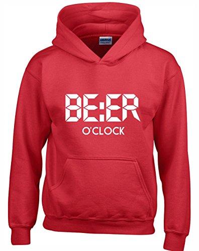 Crown Et Adolescents Clock Marrant O Hommes Beer Designs Capuche Unisexe Femmes A Pour Sweats Rouge r7wafr4q