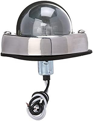 60361 CHROME HOODED COURTESY LAMP Grote AUXILIARY LIGHTING