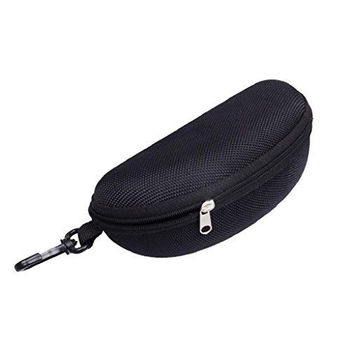 UPC 717623732996, YDZN Portable Sunglasses Case,Zipper Eye Glasses Clam Shell Hard  Protector With Clip For Women Men (Black)