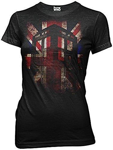 Doctor Who Tardis Union Jack Juniors T-shirt