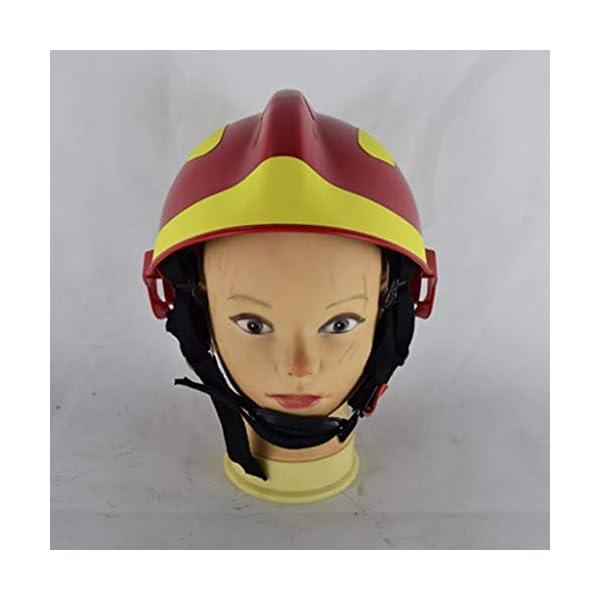 YUYUE21 Casquillo de Seguridad de protección de Casco de Rescate de terremoto con Gafas Sombrero de Bombero 6