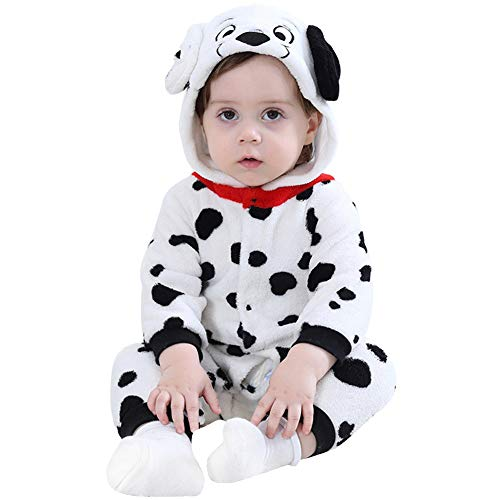 LOLANTA Unisex Baby Puppy Costume Toddler Cuddly Flannel Romper Hoodie Onesie Pajamas (18-24M) for $<!--$26.10-->